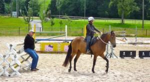 2011 07 Das erste Mal  mit Reiterin