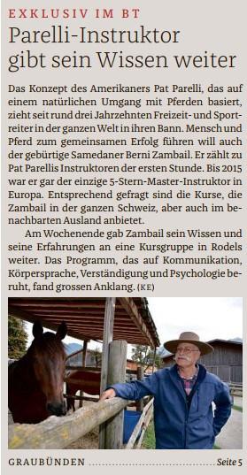 Bündner Tagblatt Titelseite